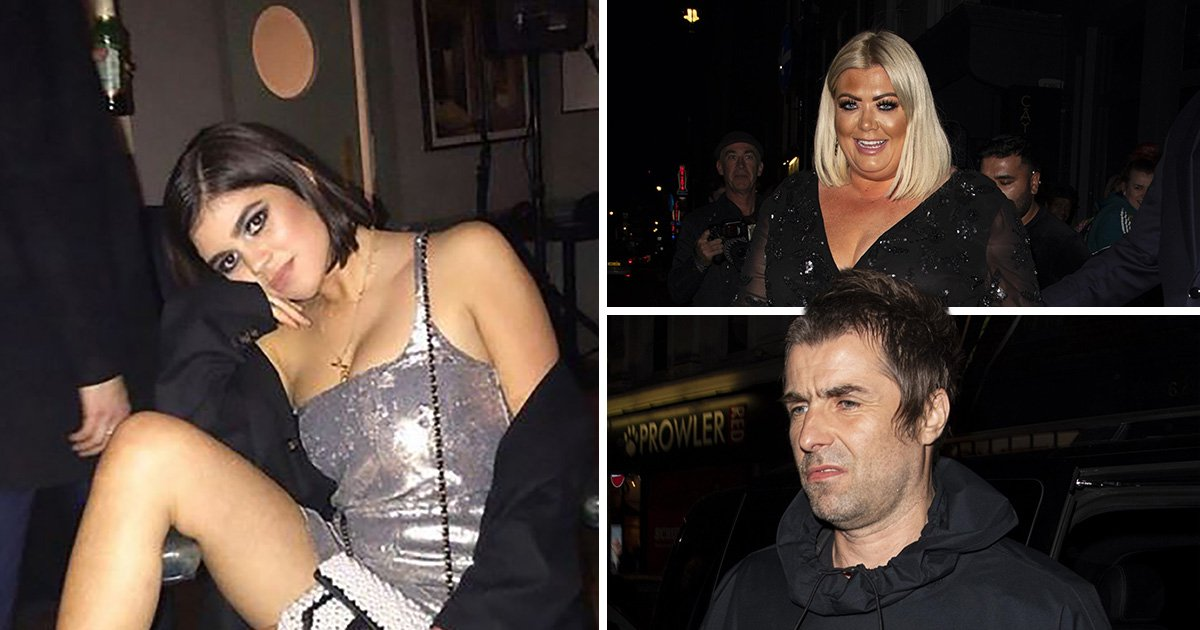 Gemma Collins sparkles as she joins Liam Gallagher at Molly Moorish's 21st birthday