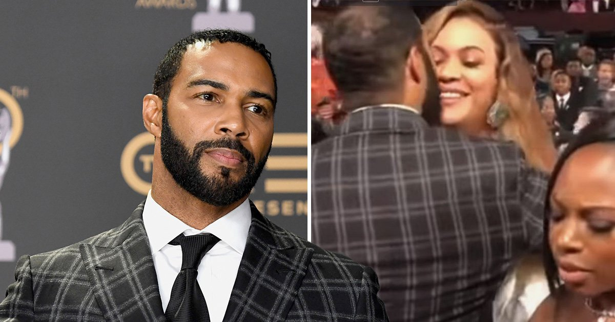 Power's Omari Hardwick kisses Beyonce twice at NAACP Image Awards and the Beyhive can't deal