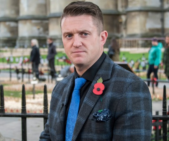 Mandatory Credit: Photo by Guy Bell/REX/Shutterstock (9968761aj) Tommy Robinson makes a video outside while preperations for the Royal British Legion, Field of Remembrance at Westminster Abbey take place. Field of Remembrance Preparation, London, UK - 06 Nov 2018
