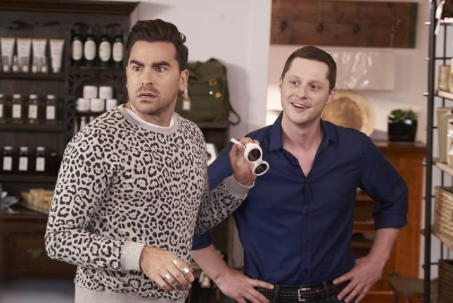 Schitt's Creek season 5 Provider: CBC Source: https://hotspotsmagazine.com/2018/02/15/schitts-creek-co-creator-dan-levy-talks-shows-beloved-gay-relationships/