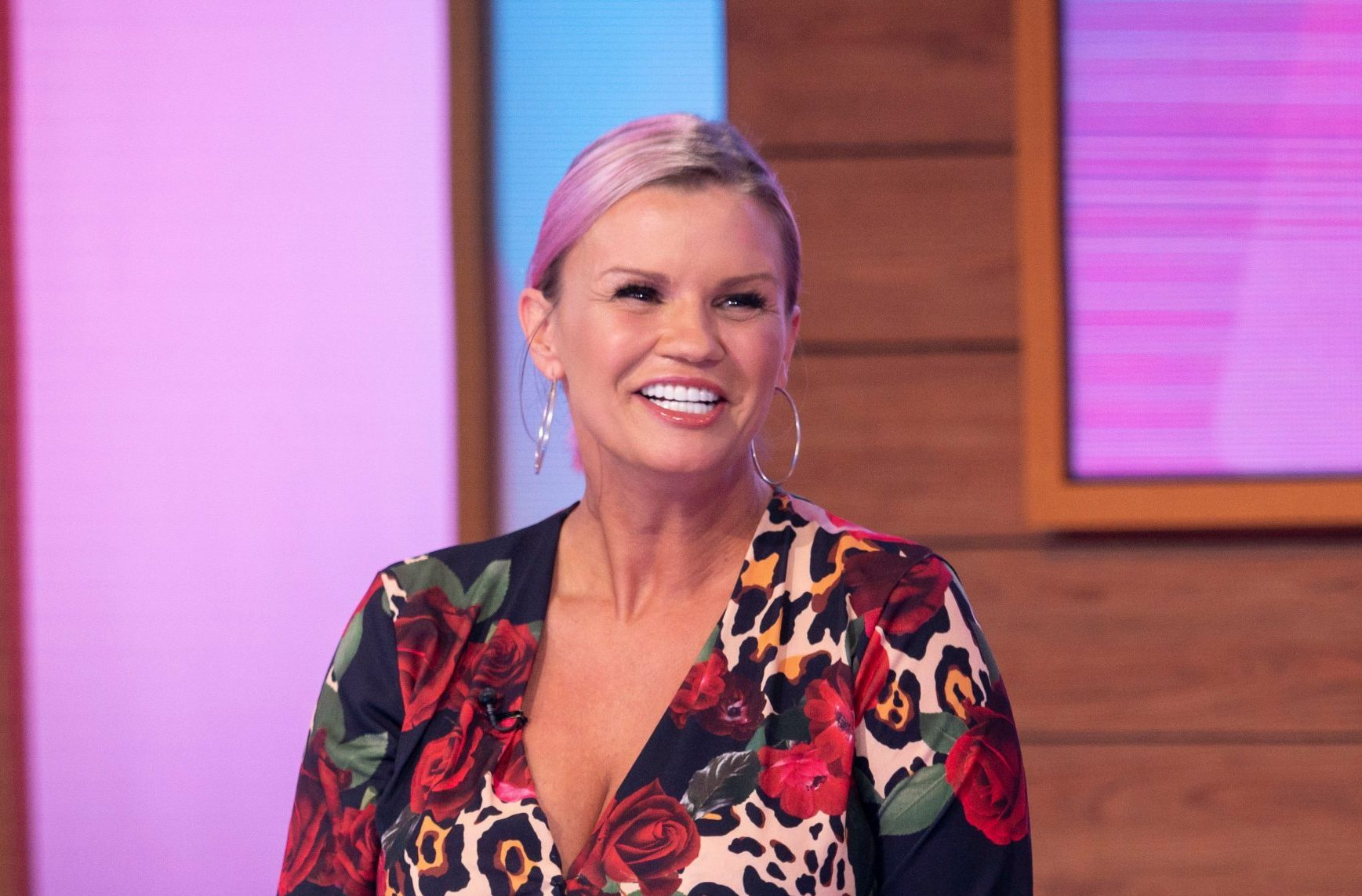 """Editorial use only Mandatory Credit: Photo by S Meddle/ITV/REX (10109695l) Kerry Katona 'Loose Women' TV show, London, UK - 18 Feb 2019 CELEBRITY GUEST: KERRY KATONA- """"I WILL NEVER MARRY AGAIN!"""" She was one third of iconic pop band ?Atomic Kitten? and now Kerry?s back on our screens, hoping to find her ?Eternal Flame? as part of the new series of ?Celebs Go Dating?! Kerry Katona is the latest single celebrity to join the lineup of stars looking for love as part of the sixth series of the E4 dating show. Kerry joins us to talk dating disasters, body transformations and mentoring her fellow celebrities."""