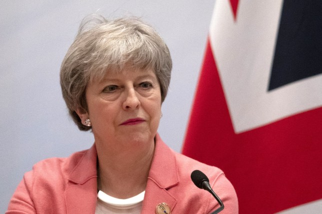SHARM EL SHEIKH, EGYPT - FEBRUARY 25: British Prime Minister Theresa May delivers her final press conference at the end of the Arab-European Summit on February 25, 2019 in Sharm El Sheikh, Egypt. Leaders from European and Arab nations are meeting for the two-day summit to discuss topics including security, trade and migration. (Photo by Dan Kitwood/Getty Images)