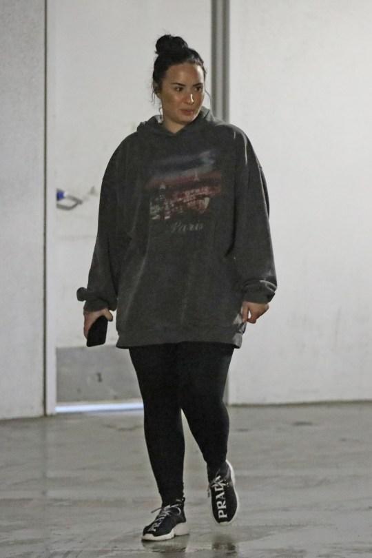 Demi Lovato Keeps Head Down In La As She Returns From