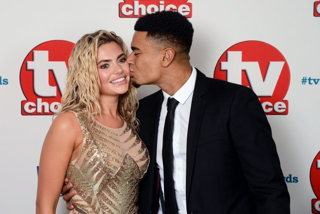 Megan Barton and Wes Nelson attend the TV Choice Awards at The Dorchester in London.