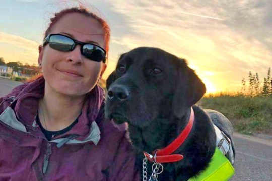 Jade Clements and her guide dog Toffee (Picture: GoFundMe)