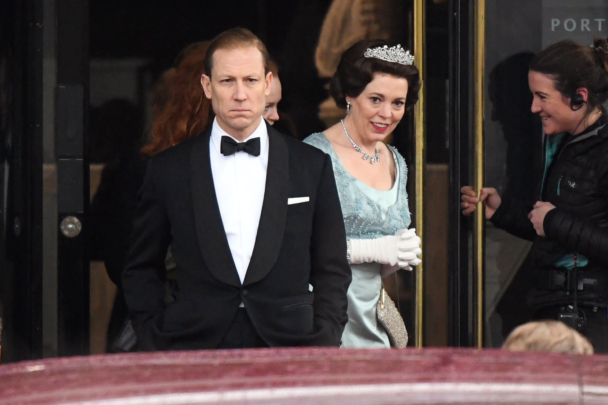 EXCLUSIVE: ** STRICT EMBARGO: No Web Till 10pm 3rd March 2019 ** Fee For Online After 10pm 300 GBP For Set * * Min Print Fee 250 GBP PP * Double Pg 1 * Olivia Colman (Queen Elizabeth II) and Tobias Menzies (Prince Phillip) seen filming scenes for 'The Crown' at the Royal College of Physicians in central London. Pictured: Tobias Menzies,Olivia Colman Ref: SPL5058067 250119 EXCLUSIVE Picture by: SplashNews.com ** STRICT EMBARGO: No Web Till 10pm 3rd March 2019 ** Fee For Online After 10pm 300 GBP For Set * * Min Print Fee 250 GBP PP * Double Pg 1 * Splash News and Pictures Los Angeles: 310-821-2666 New York: 212-619-2666 London: 0207 644 7656 Milan: 02 4399 8577 photodesk@splashnews.com World Rights