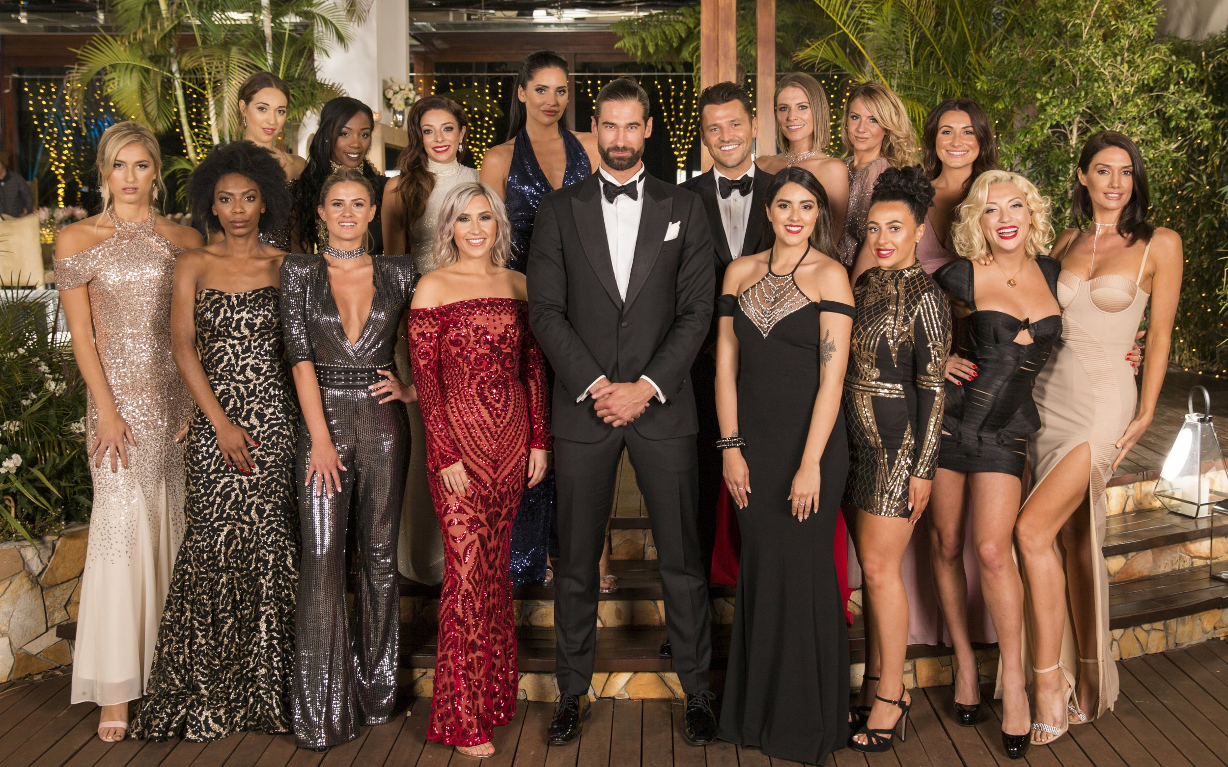 The contestants on The Bachelor and Alex Marks