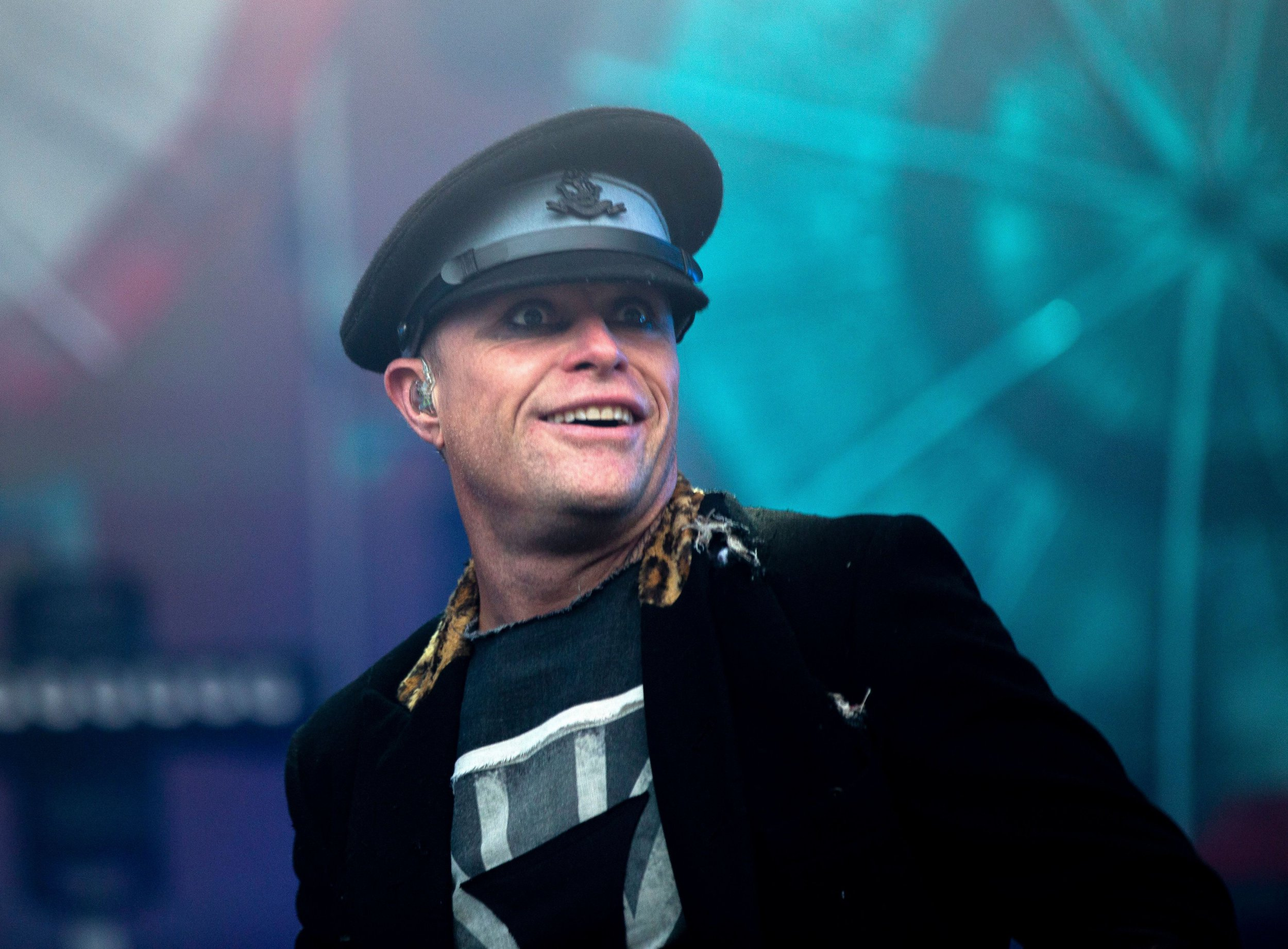 Mandatory Credit: Photo by Amy Muir/REX/Shutterstock (10138634a) Keith Flint of The Prodigy T in the Park Festival, Strathallan Castle, Perthshire, Scotland, Britain - 12 Jul 2015
