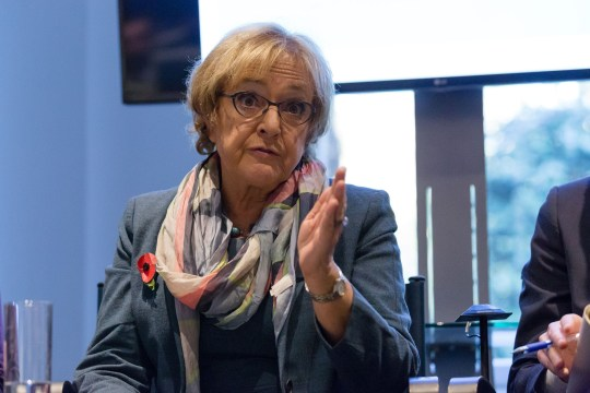 Mandatory Credit: Photo by Vickie Flores/REX/Shutterstock (6907987t) Margaret Hodge MP speaking at the Resolution Foundation at the launch of its report on tax policy and post Brexit tax strategy. Post Brexit tax policy speech, Resolution Foundation, London, UK - 02 Nov 2016