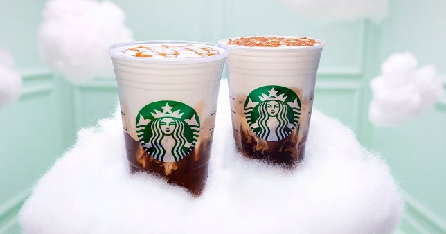 Ariana Grande new Starbucks cloud macchiato Picture: Starbucks METROGRAB