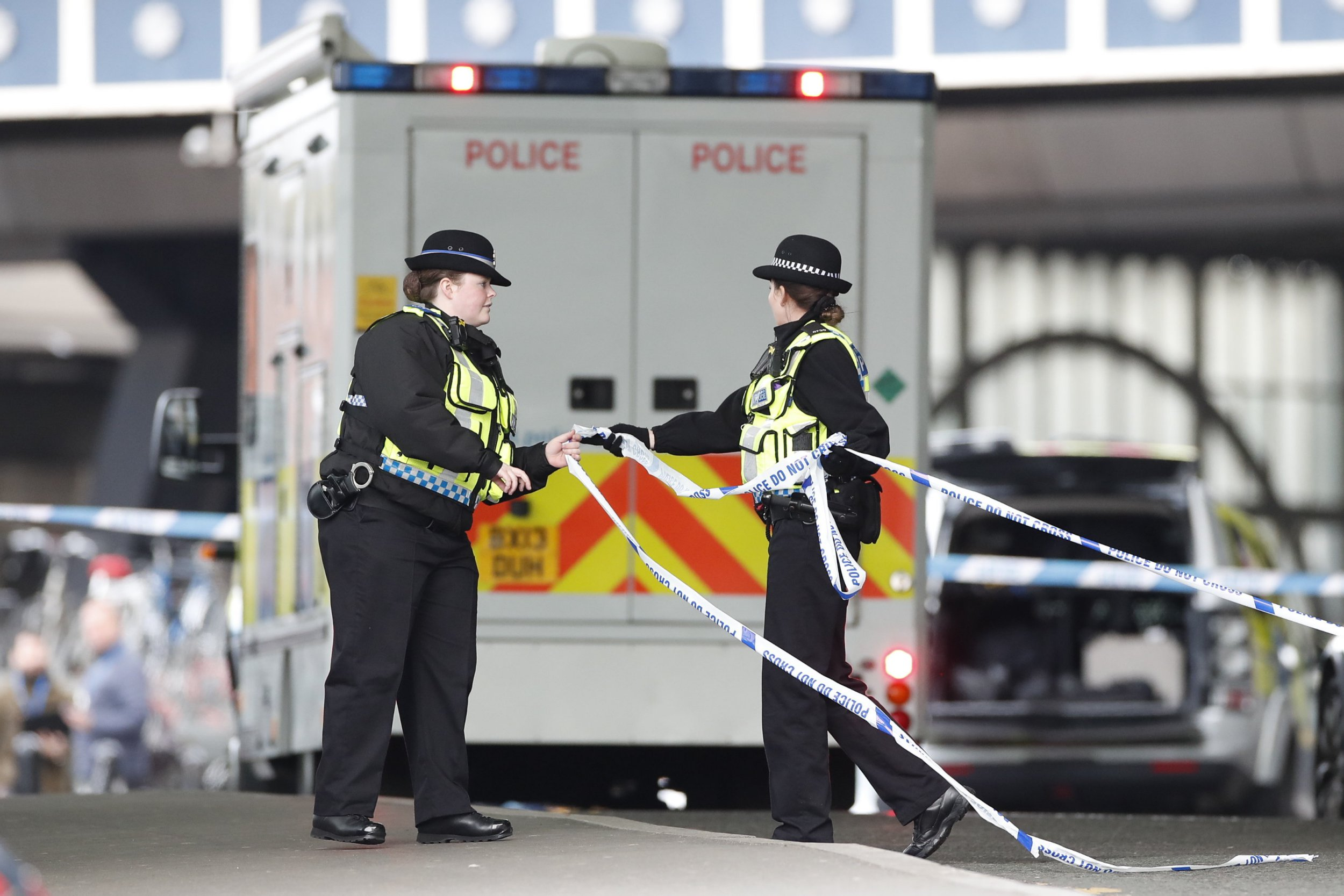?? Licensed to London News Pictures. 05/03/2019. London, UK. The scene at Waterloo Station as police deal with a suspicious package. Earlier reports said the station has been evacuated, but police state that trains are running as normal. Similar incidents have been reported at Heathrow and London City airport. Photo credit: Peter Macdiarmid/LNP