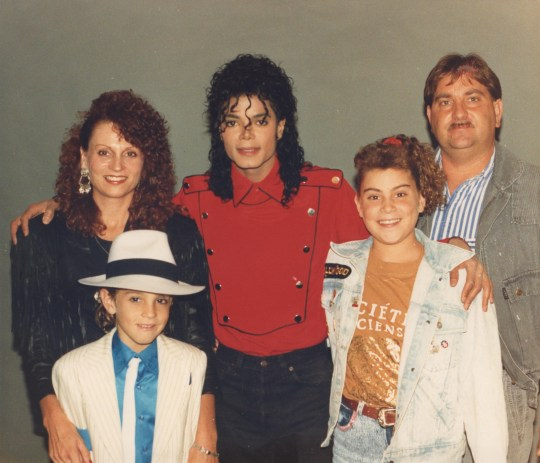 MJ and THE ROBSONS FEB 1990.