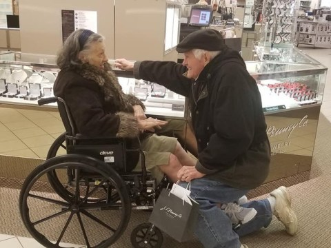 Man, 85, proposes to his wife of over 60 years