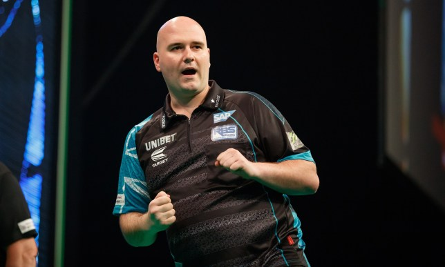 2019 Unibet Premier League Darts: Night Five- March 7 2019 The BHGE Arena: Aberdeen: Michael Smith v Rob Cross pic shows: Cross wins his match