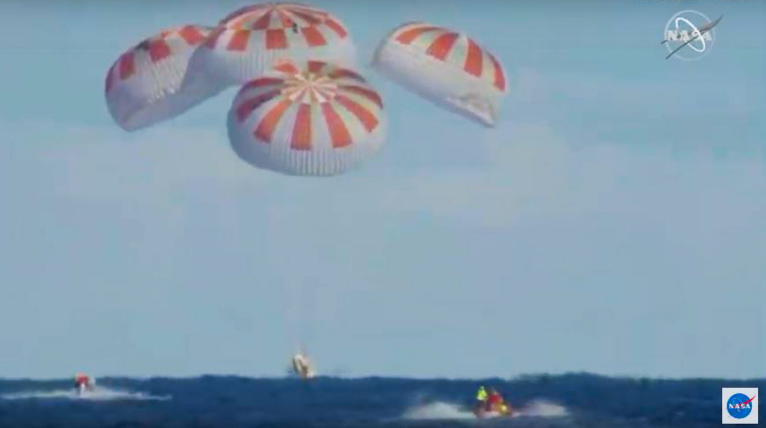 SpaceX Dragon Crew capsule splashes back down to Earth