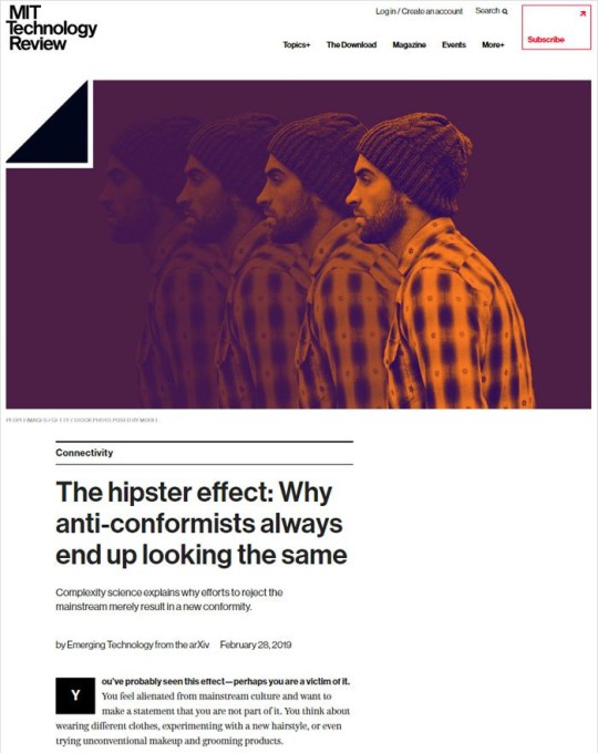 MIT Technology Review www.boredpanda.com/hipsters-looking-same-article-photo-hate/