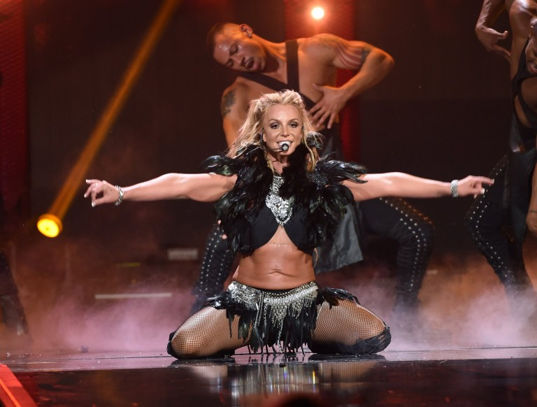 LAS VEGAS, NV - SEPTEMBER 24: Recording artist Britney Spears performs onstage at the 2016 iHeartRadio Music Festival at T-Mobile Arena on September 24, 2016 in Las Vegas, Nevada. (Photo by Kevin Winter/Getty Images)