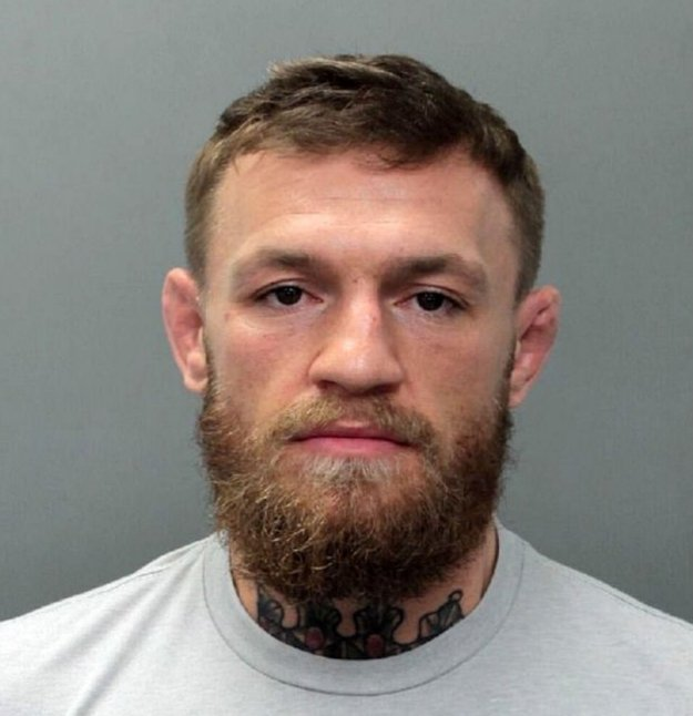 """BGUK_1513973 - ** RIGHTS: WORLDWIDE EXCEPT IN UNITED STATES ** Los Angeles, CA - Conor McGregor is arrested in Miami for allegedly 'smashing a fan's phone' outside a Miami nightclub at 5am. An arrest report says McGregor and a fan were leaving the Fontainebleau Miami Beach hotel just after 5am Monday morning when the altercation went down. Surveillance footage allegedly shows McGregor slapping the fan's phone out of his hand as he was taking a photo and stomping on it several times. Police say McGregor then walked away with the phone valued at $1,000. The MMA fighter is charged with criminal mischief and strong-armed robbery. Police spent the day investigating the incident before arresting McGregor Monday evening at a home in Miami Beach. He was booked at Miami-Dade Jail and released later Monday night. McGregor's attorney's released the following statement after his arrest: """"Last evening Conor McGregor was involved a minor altercation over a cell phone that resulted in a call to law enforcement. Mr McGregor appreciates the response of law enforcement and pledges his full cooperation."""" The Irish mixed martial arts fighter was in South Florida celebrating his mother's 60th birthday, according to Instagram photos posted over the weekend. *BACKGRID DOES NOT CLAIM ANY COPYRIGHT OR LICENSE IN THE ATTACHED MATERIAL. ANY DOWNLOADING FEES CHARGED BY BACKGRID ARE FOR BACKGRID'S SERVICES ONLY, AND DO NOT, NOR ARE THEY INTENDED TO, CONVEY TO THE USER ANY COPYRIGHT OR LICENSE IN THE MATERIAL. BY PUBLISHING THIS MATERIAL , THE USER EXPRESSLY AGREES TO INDEMNIFY AND TO HOLD BACKGRID HARMLESS FROM ANY CLAIMS, DEMANDS, OR CAUSES OF ACTION ARISING OUT OF OR CONNECTED IN ANY WAY WITH USER'S PUBLICATION OF THE MATERIAL* Pictured: Conor McGregor mugshot BACKGRID UK 11 MARCH 2019 BYLINE MUST READ: Miami Beach PD / BACKGRID UK: +44 208 344 2007 / uksales@backgrid.com USA: +1 310 798 9111 / usasales@backgrid.com *UK Clients - Pictures Containing Children Please Pixelate Face Prior To Publ"""