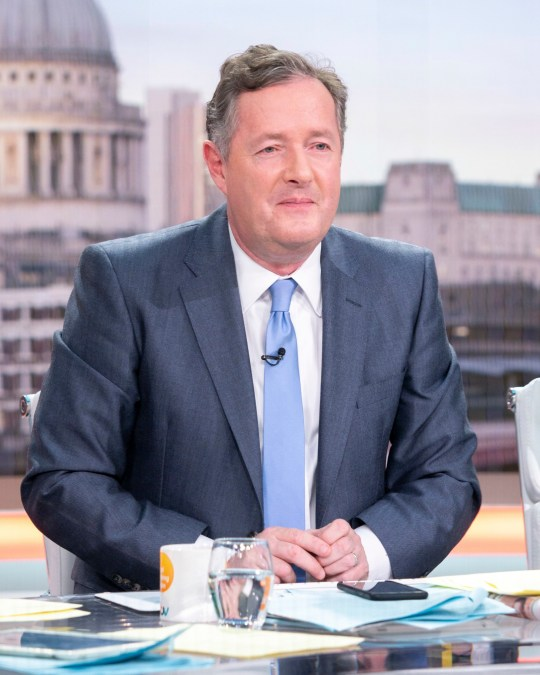 Editorial use only Mandatory Credit: Photo by S Meddle/ITV/REX (10142300cu) Piers Morgan 'Good Morning Britain' TV show, London, UK - 06 Mar 2019