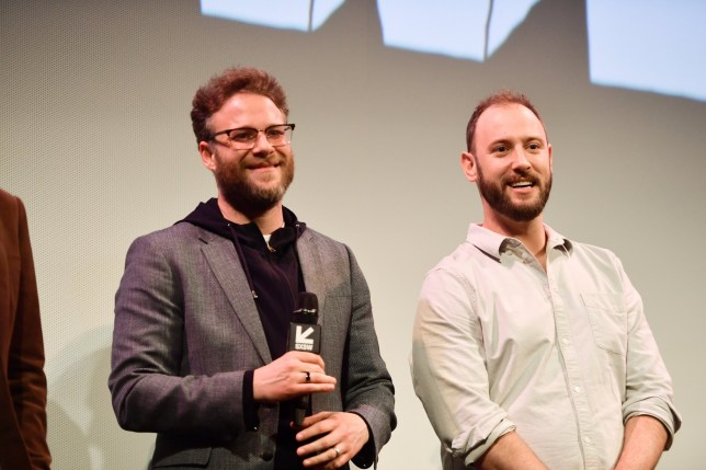 "AUSTIN, TEXAS - MARCH 11: Seth Rogen and Evan Goldberg attend the ""Good Boys"" Premiere 2019 SXSW Conference and Festivals at Paramount Theatre on March 11, 2019 in Austin, Texas. (Photo by Matt Winkelmeyer/Getty Images for SXSW)"