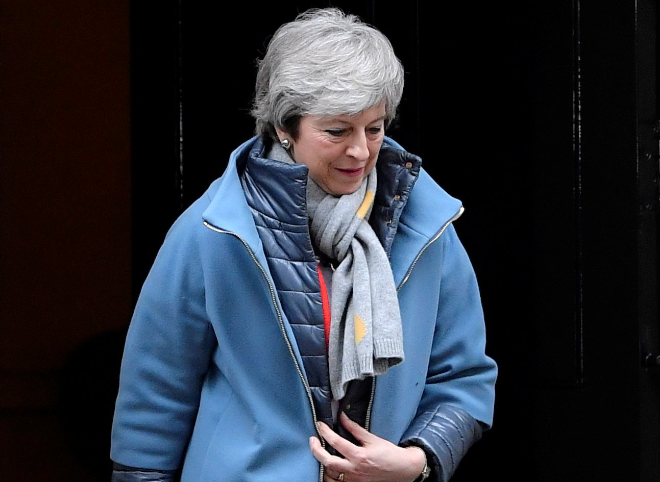 Britain's Prime Minister Theresa May is seen outside Downing Street in London, Britain, March 12, 2019. REUTERS/Toby Melville