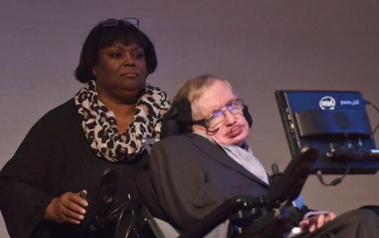 Mandatory Credit: Photo by Alan Davidson/REX/Shutterstock (7541434az) Professor Stephen Hawking and Patricia Dowdy Professor Stephen Hawking Medal