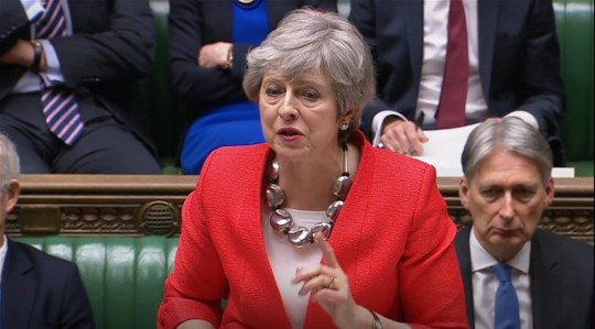 Prime Minister Theresa May speaks during the Brexit debate in the House of Commons, London. PRESS ASSOCIATION Photo. Picture date: Tuesday March 12, 2019. See PA story POLITICS Brexit . Photo credit should read: House of Commons/PA Wire