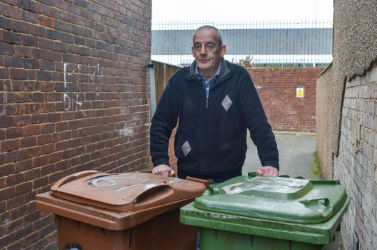 Binmen caught on CCTV urinating on man's wheelie bins