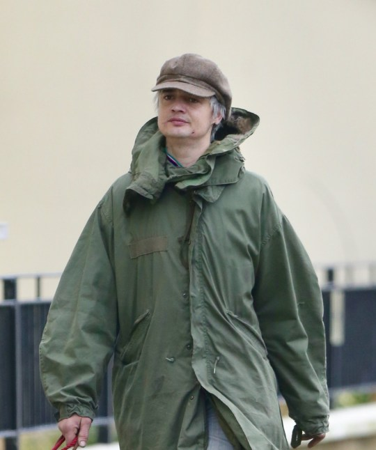 Pete Doherty cuts a low-key figure on his 40th birthday