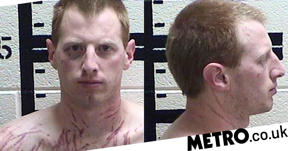 Ex-prison guard arrested for rape is covered in bloody scratches in