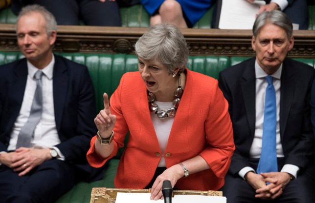 Britain's Prime Minister Theresa May speaks in the House of Commons