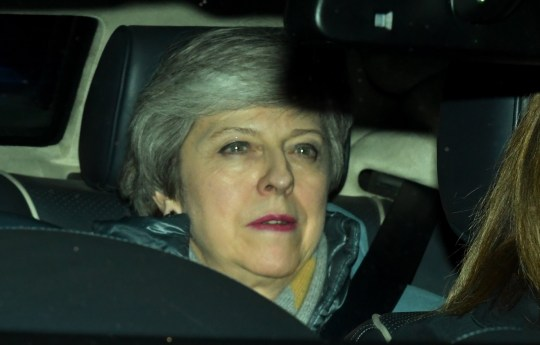 epa07432274 British Prime Minister, Theresa May leaves Houses of Parliament in London, Britain, 12 March 2019. British parliament voted with 391 to 242 vote against British Prime Minister May's amended Brexit deal. Theresa May wanted parliament to back her 'improved' withdrawall agreement she has negotiated with the EU over the so-called 'backstop'. The United Kingdom is officially due to leave the European Union on 29 March 2019, two years after triggering Article 50 in consequence to a referendum. EPA/FACUNDO ARRIZABALAGA