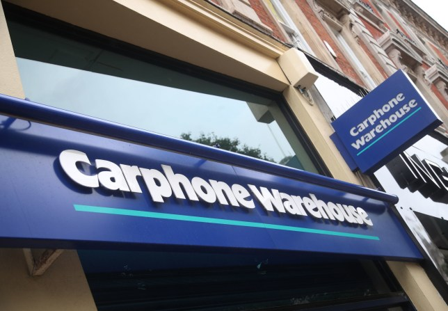A Carphone Warehouse store on Oxford Street, central London, as Dixons Carphone has said that it will shut 92 Carphone Warehouse standalone stores over the next 12 months as it grapples with changing consumer habits.