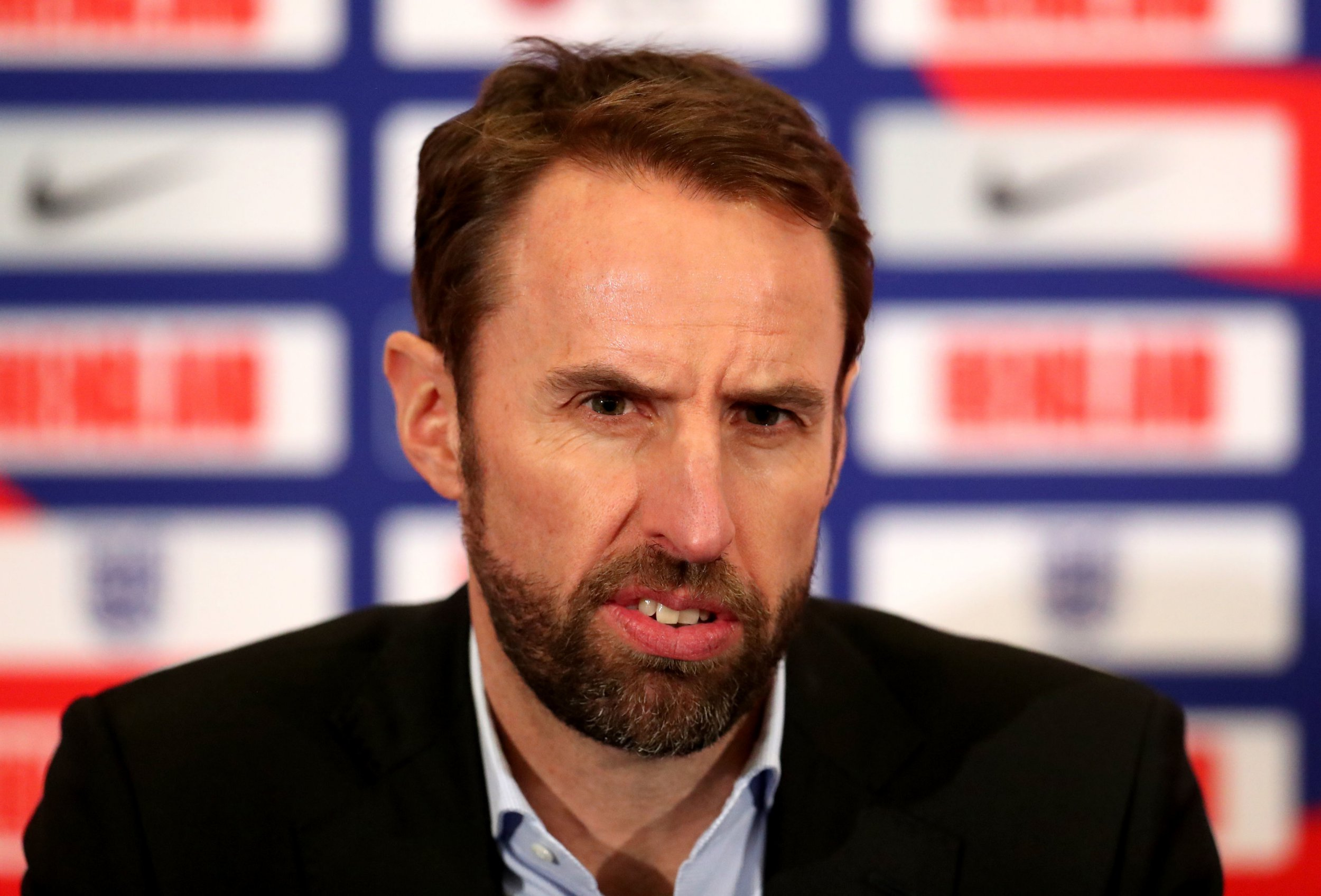 Gareth Southgate during the England Squad Announcement at St George's Park, Burton. PRESS ASSOCIATION Photo. Picture date: Wednesday March 13, 2019. See PA story SOCCER England. Photo credit should read: Bradley Collyer/PA Wire. RESTRICTIONS: Use subject to FA restrictions. Editorial use only. Commercial use only with prior written consent of the FA. No editing except cropping.