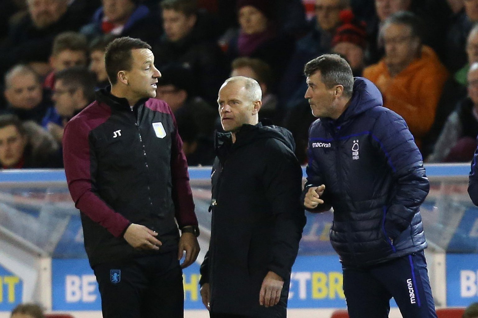 John Terry and Roy Keane in touchline bust-up during Aston Villa's win over Nottingham Forest