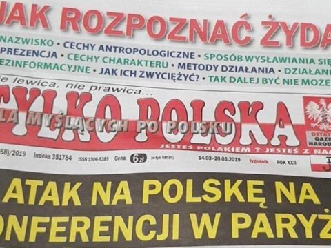 'How to recognise a Jew' headline appears on Polish front page