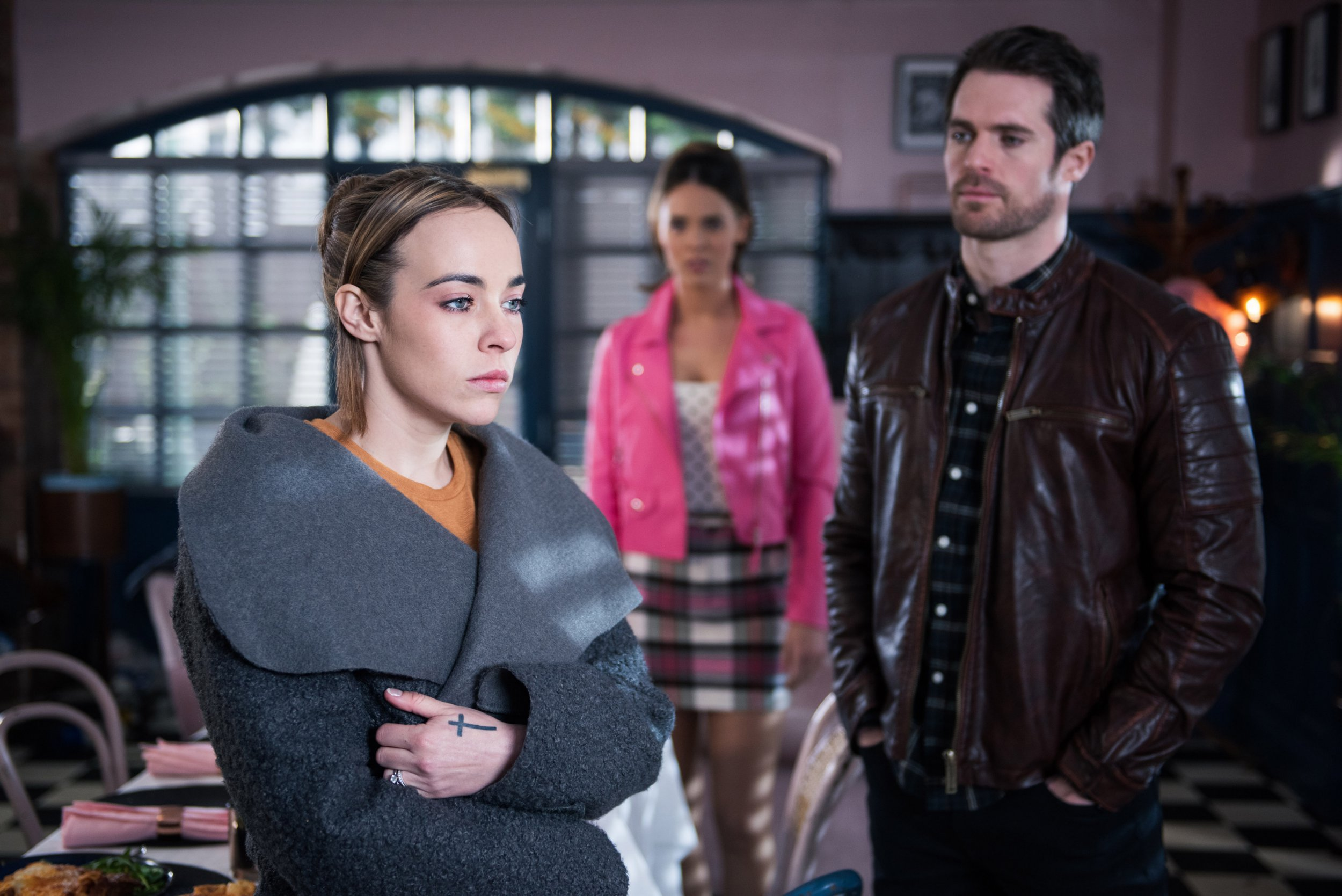 Liberty confronts Sinead over her kiss with Sami