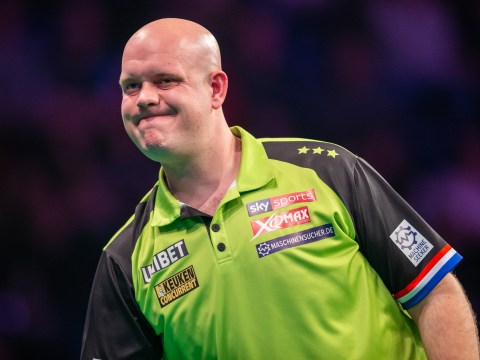 Michael van Gerwen reacts to shock Premier League loss to Daryl Gurney in Berlin
