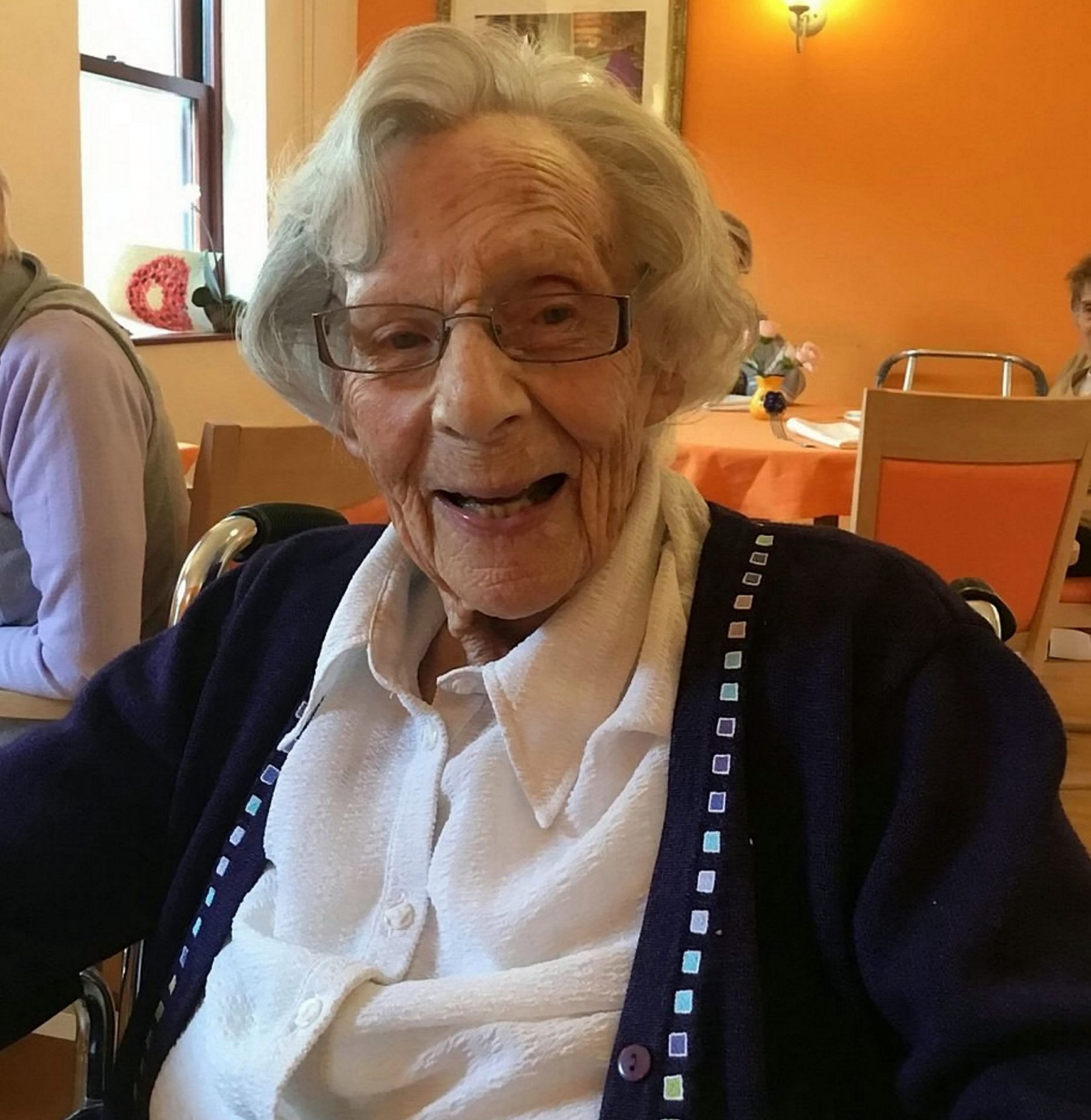 Anne Brokenbrow, the remarkable 104-year-old from Bristol. See SWNS story SWBRarrest - 104-year-old reveals her last wish is to be ARRESTED as she has never committed a crime - and police are set to oblige