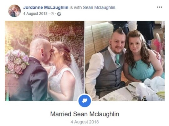PIC FROM FACEBOOK - USE AT OWN RISK(PICTURED: FACEBOOK UPDATE ON JORDANNE'S PROFILE SHOWS HER HOLDING FLOWERS MADE BY FOREVER TO HOLD FLORISTS) A blushing bride claimed a ??100 refund for wedding flowers that supposedly never arrived - only for the florist to spot her beaming with the bouquet on social media more than a year later. Jordanne McLaughlin complained to mother and daughter-in-law-ran wedding decor company Forever to Hold for five months and was eventually refunded ??100 - despite the company having proof of postage. Immediately after receiving the refund, co-owner Sarah Weatherill, 34, claims Jordanne blocked her and business partner Lisa Husband, 46, on Facebook.SEE KENNEDY NEWS COPY - 0161 697 4266