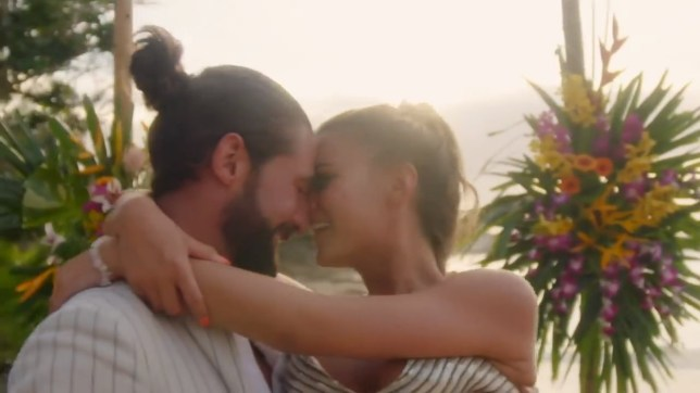 The Bachelor UK finale - Alex Marks and Alicia (Picture: Channel 5)