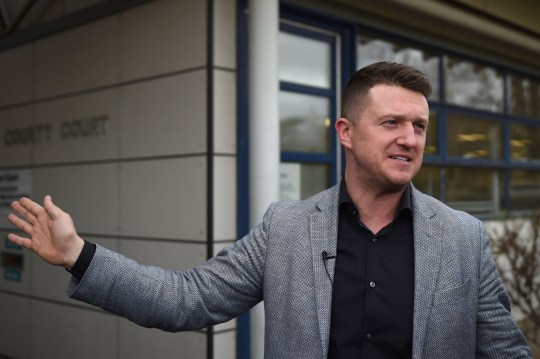 Former English Defence League leader Tommy Robinson, also known as Stephen Yaxley-Lennon, speaks to the media outside Peterborough County Court after losing his case against Cambridgeshire Police for harassment. PRESS ASSOCIATION Photo. Picture date: Friday March 15, 2019. Mr Robinson was at a pub with his children in Cambridge on August 27 2016 before being forced to leave by police. See PA story COURTS Robinson. Photo credit should read: Joe Giddens/PA Wire