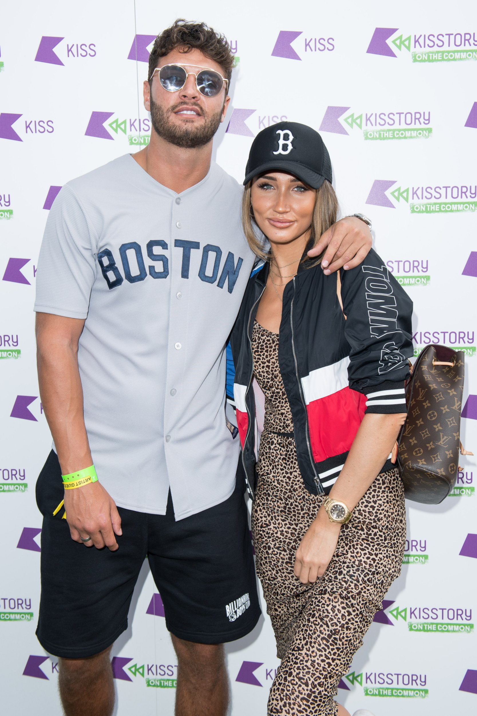 LONDON, ENGLAND - JULY 21: (L-R) Mike Thalassitis and Megan McKenna attend Kisstory On The Common 2018 at Streatham Common on July 21, 2018 in London, England. (Photo by Jeff Spicer/Getty Images)