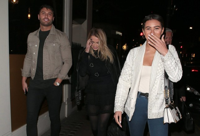 LONDON, ENGLAND - JANUARY 10: Mike Thalassitis and Montana Brown seen on a night out at Sexy Fish on January 10, 2019 in London, England. (Photo by Ricky Vigil/GC Images)