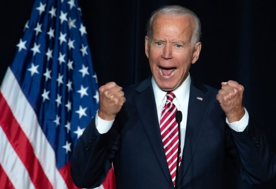 TOPSHOT - Former US Vice President Joe Biden speaks during the First State Democratic Dinner in Dover, Delaware, on March 16, 2019. (Photo by SAUL LOEB / AFP)SAUL LOEB/AFP/Getty Images