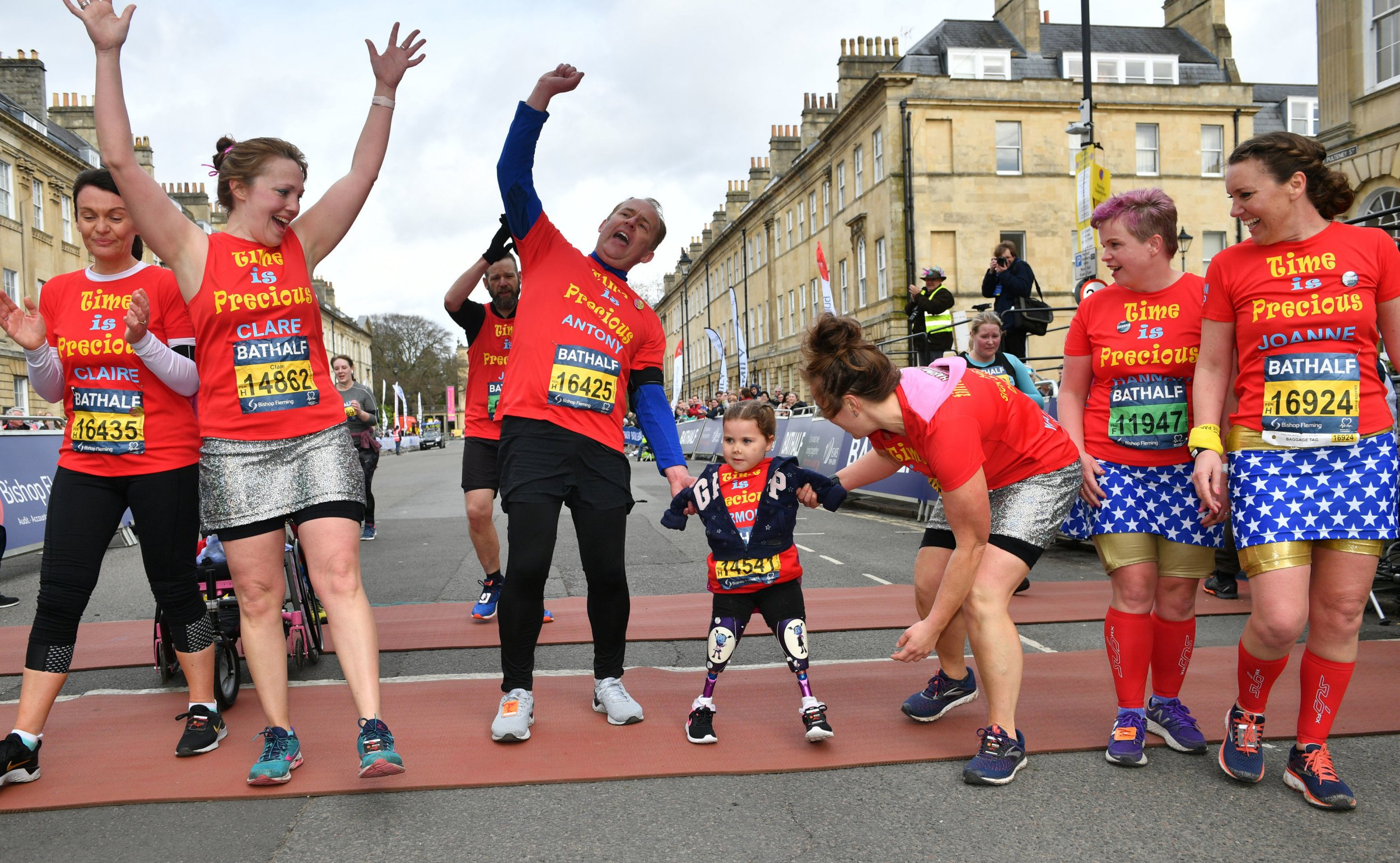 Girl, 5, who lost all her limbs to meningitis finishes half-marathon