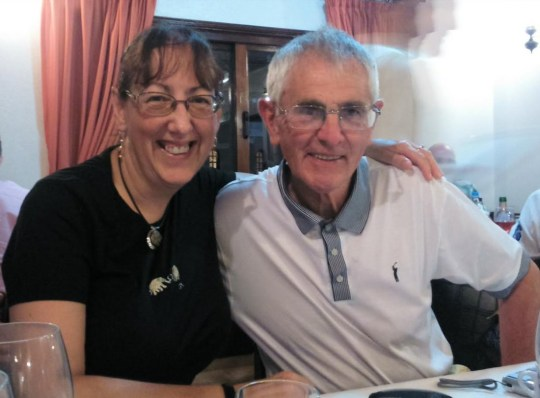Sharleen Gillies, 58, and husband Ron Gillies, 77. A stranger drove the couple from Stockton to Cambridge(a 400 mile round trip) so Sharleen could see her terminally ill mother after they had a crash on the A19. Picture sent in by Ron Gillies.