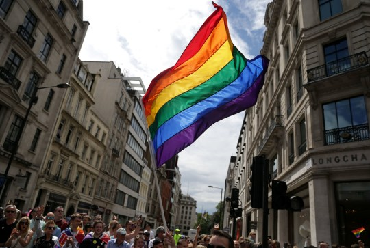 "File photo dated 25/06/16 of a rainbow flag during the Pride in London parade. A review of NHS policy on treating transgender patients on hospital wards will be carried out over the next six months, the head of the NHS has said. PRESS ASSOCIATION Photo. Issue date: Monday March 18, 2019. Simon Stevens, chief executive of NHS England, said that where people who have legally changed their gender should be cared for in hospitals was a ""sensitive and difficult question"". Current NHS policy means transgender patients are treated as they present, regardless of whether they have undergone a medical procedure to transition. See PA story HEALTH Transgender. Photo credit should read: Daniel Leal-Olivas/PA Wire"