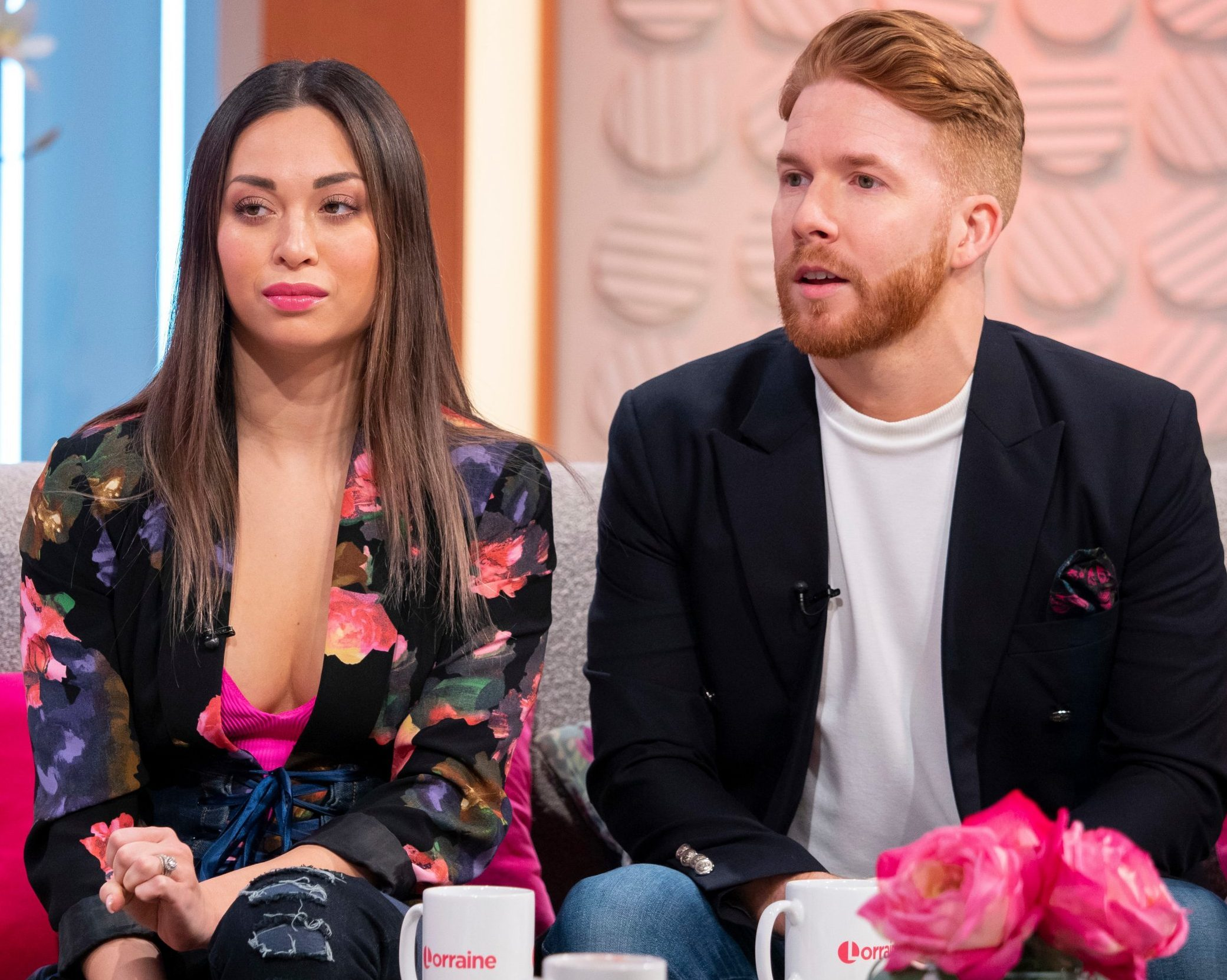 Editorial use only Mandatory Credit: Photo by Ken McKay/ITV/REX (10159692b) Katya Jones and Neil Jones 'Lorraine' TV show, London, UK - 19 Mar 2019