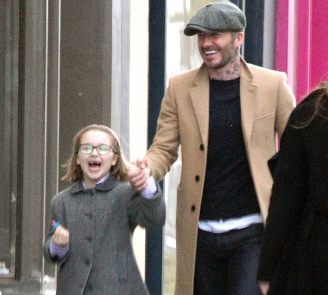 BGUK_1520580 - *PREMIUM-EXCLUSIVE* London, UNITED KINGDOM - MUST CALL FOR PRICING BEFORE USAGE - NOT AVAILABLE FOR ONLINE USAGE UNTIL FURTHER NOTICE - Former England International footballer David Beckham takes his daughter Harper Seven on a shopping trip in London. After the recent revelation that David Beckham has pleaded guilty to driving whilst on his mobile phone, the ex-Manchester United and Real Madrid star spent some father and daughter time and were seen laughing and having fun while they hit the exclusive boutique shops of Notting Hill. Pictured: David Beckham - Harper Seven Beckham BACKGRID UK 18 MARCH 2019 BYLINE MUST READ: Stanley / BACKGRID UK: +44 208 344 2007 / uksales@backgrid.com USA: +1 310 798 9111 / usasales@backgrid.com *UK Clients - Pictures Containing Children Please Pixelate Face Prior To Publication*